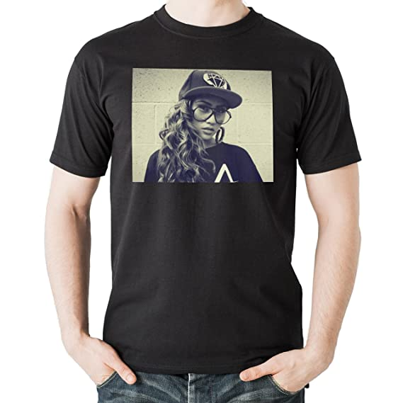 SWAG Girl Looking Behind The Wall Large Hommes T,Shirt