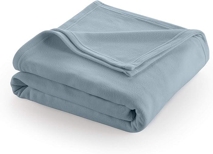 Martex Super Soft Fleece Blanket - Twin, Warm, Lightweight, Pet-Friendly, Throw for Home Bed, Sofa & Dorm - Dusty Blue