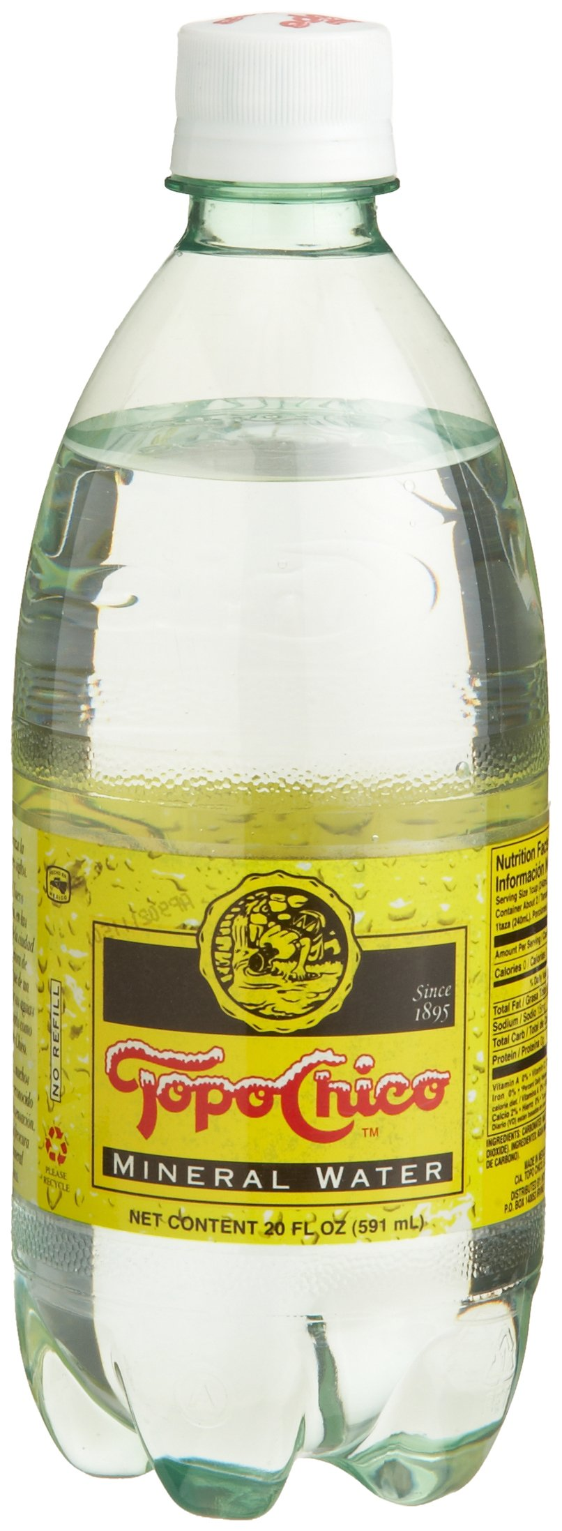 Topo Chico Mineral Water, 20-Ounce Plastic Bottless (Pack of 24)