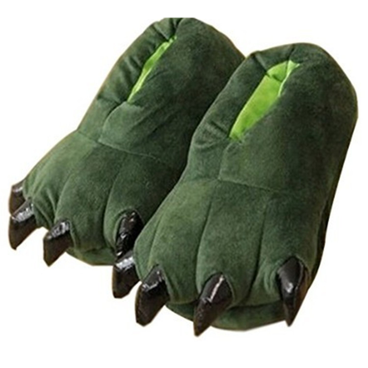 Thicken Warm Winter Slippers Dinosaur Claws Slippers Novelty Feet Costume for Kids