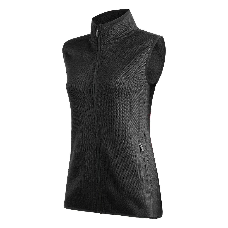 spoear Zip up Womens Vest with Zipper Pockets Athletic Sweater Fleece Vest Sleeveless Sweater Jacket(AllBlack,XXXL)