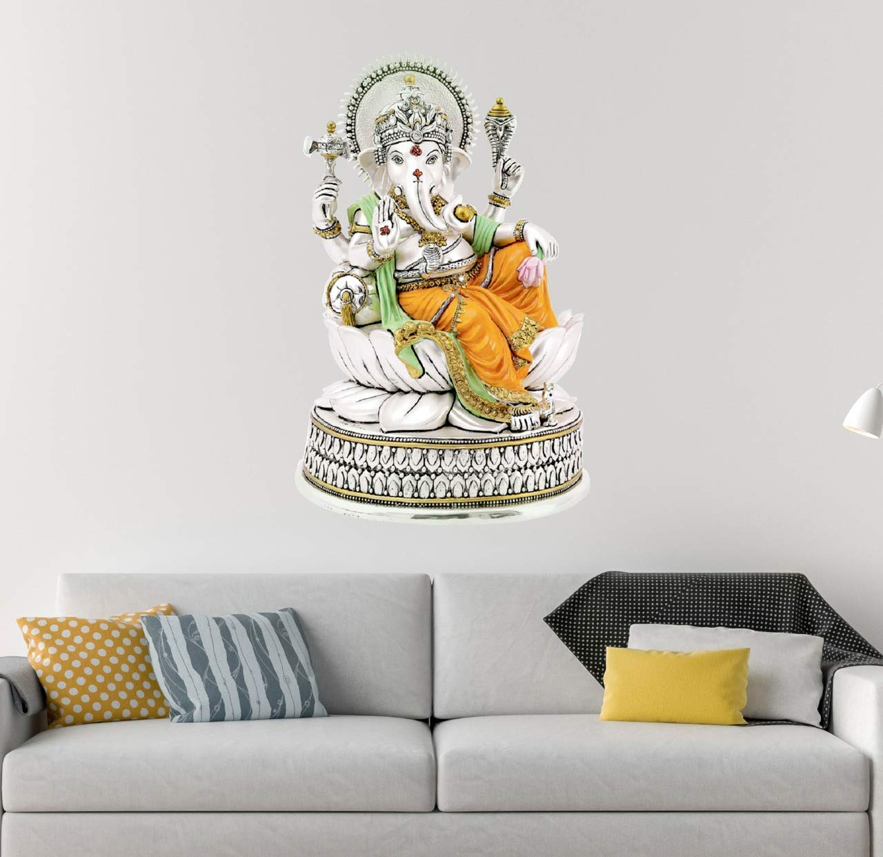 Friends Office Automation Vinyl Lord Ganesha Ganpati Ji Wall Sticker
