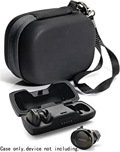 Featured Protective Case for Bose SoundSport Free Truly Wireless Sport Headphones Charger Box, Mesh pocket for Cable and other accessories (Frosted Black)