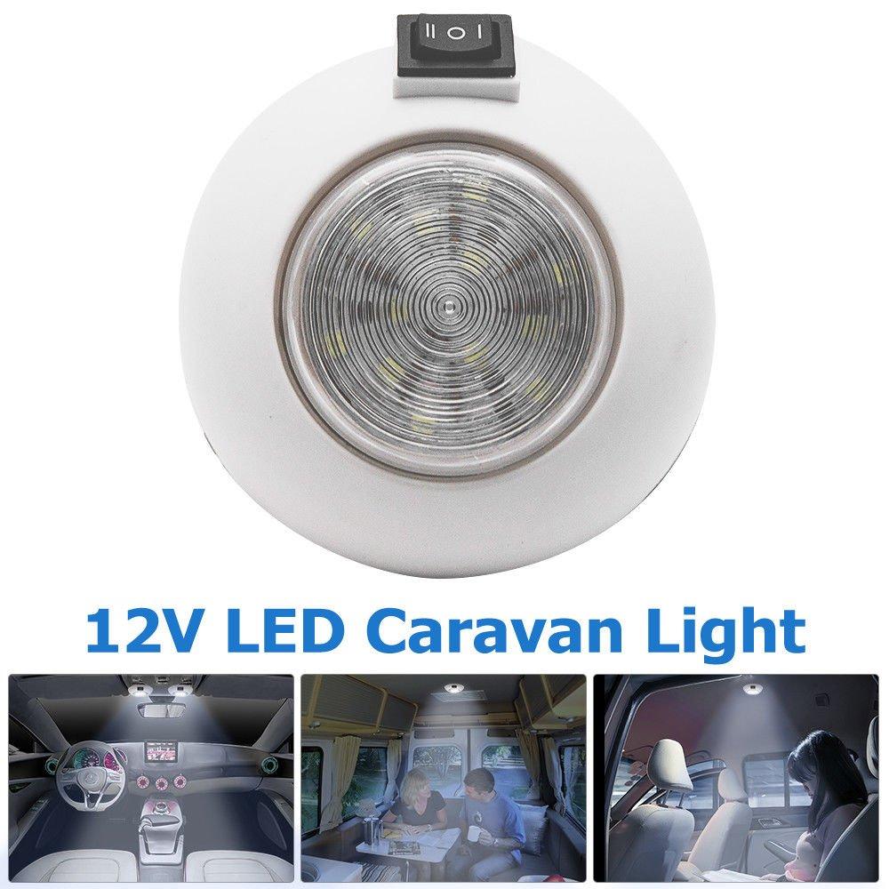 Camper Light/ /Maso utra fin DC 12/V Int/érieur LED Spot camping-car van camping-car Bateau Blanc et bleu avec interrupteur on//off
