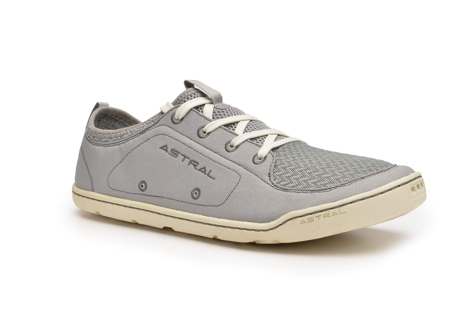 Astral Men's Loyak Everyday Outdoor Minimalist Sneakers, Lightweight and Flexible, Made for Water, Casual, Travel, and Boat, Gray White, 8 M US