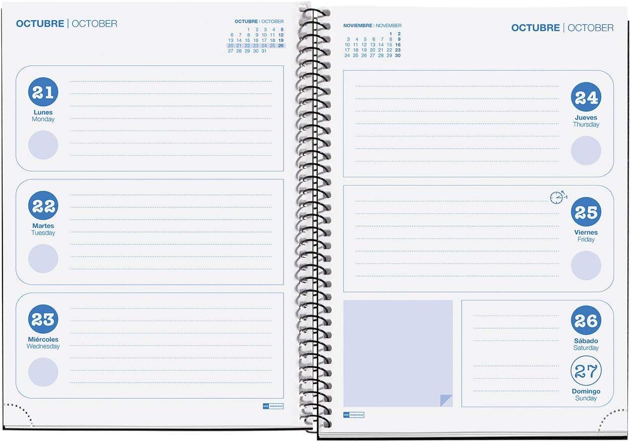 Miquelrius Agenda Escolar 19//20 Semana Vista Mapamundi Castellano
