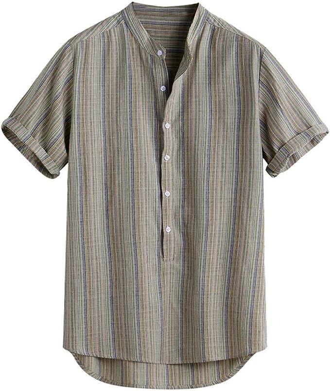 Magiyard - Camiseta de Rayas Hawaiana, Camisa para Hombre ...