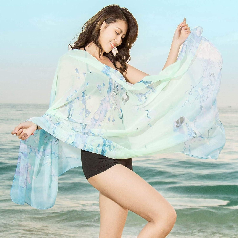 heekpek Pa/ñuelos De Emulaci/ón Seda Mujer Mant/ón Bufanda Moda Se/ñoras Playa Estolas Fular para Mujer