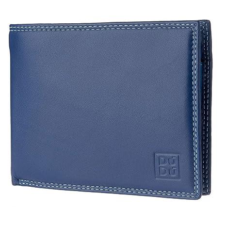 4ca0763c0f DUDU Portafoglio uomo RFID schermato Colorato in Vera Pelle formato  Classico con Portamonete e Porta carte
