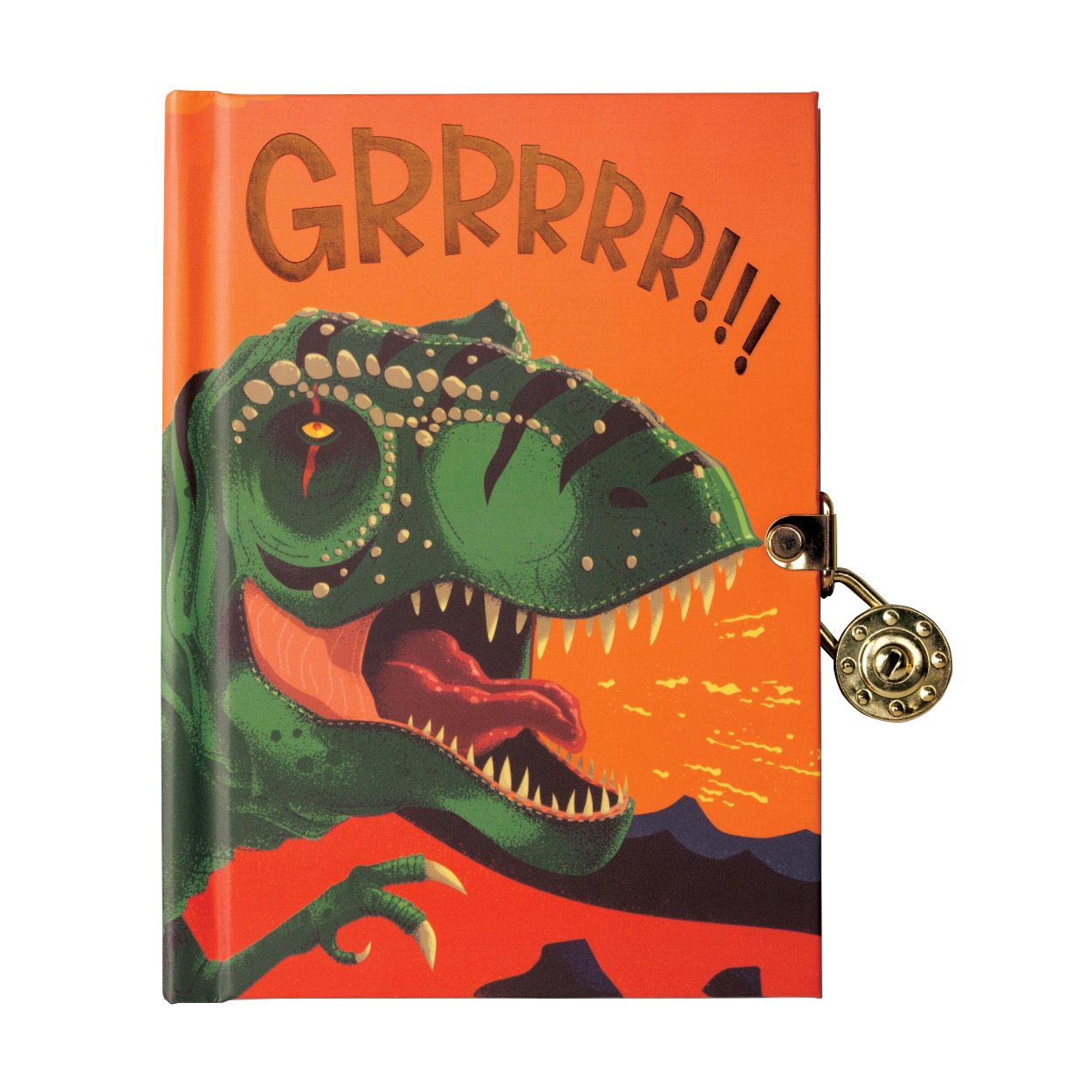 Mudpuppy Dinosaur Locked Diary by Mudpuppy