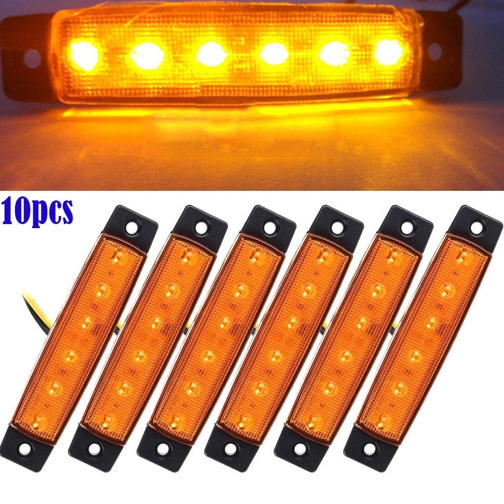 Wei/ß Feeilty Auto Seitenlichter 10 St/ück 12V SMD 6 LED Heck Seitliche Begrenzungsleuchte Position Anh/änger Lkw 12V