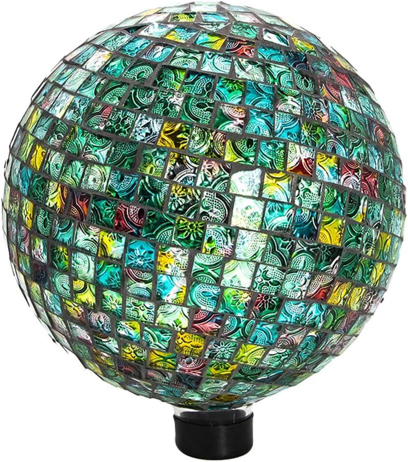 Ferrisland Garden Glass Gazing Ball Tile Mosaic Mirrored Reflect Globe Home Decor Colorful Ornament 10
