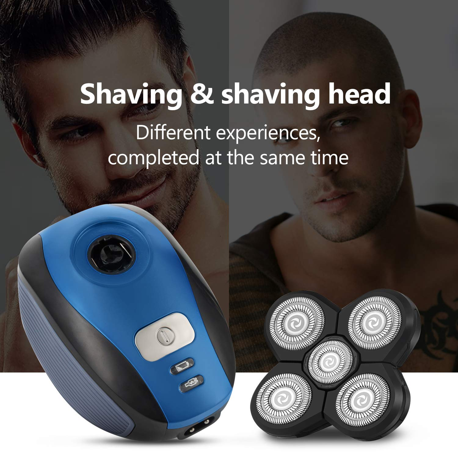 Men's Electric Razor Bald Head Shaver, 5 In 1 Mens Beard Trimmer Grooming Kit