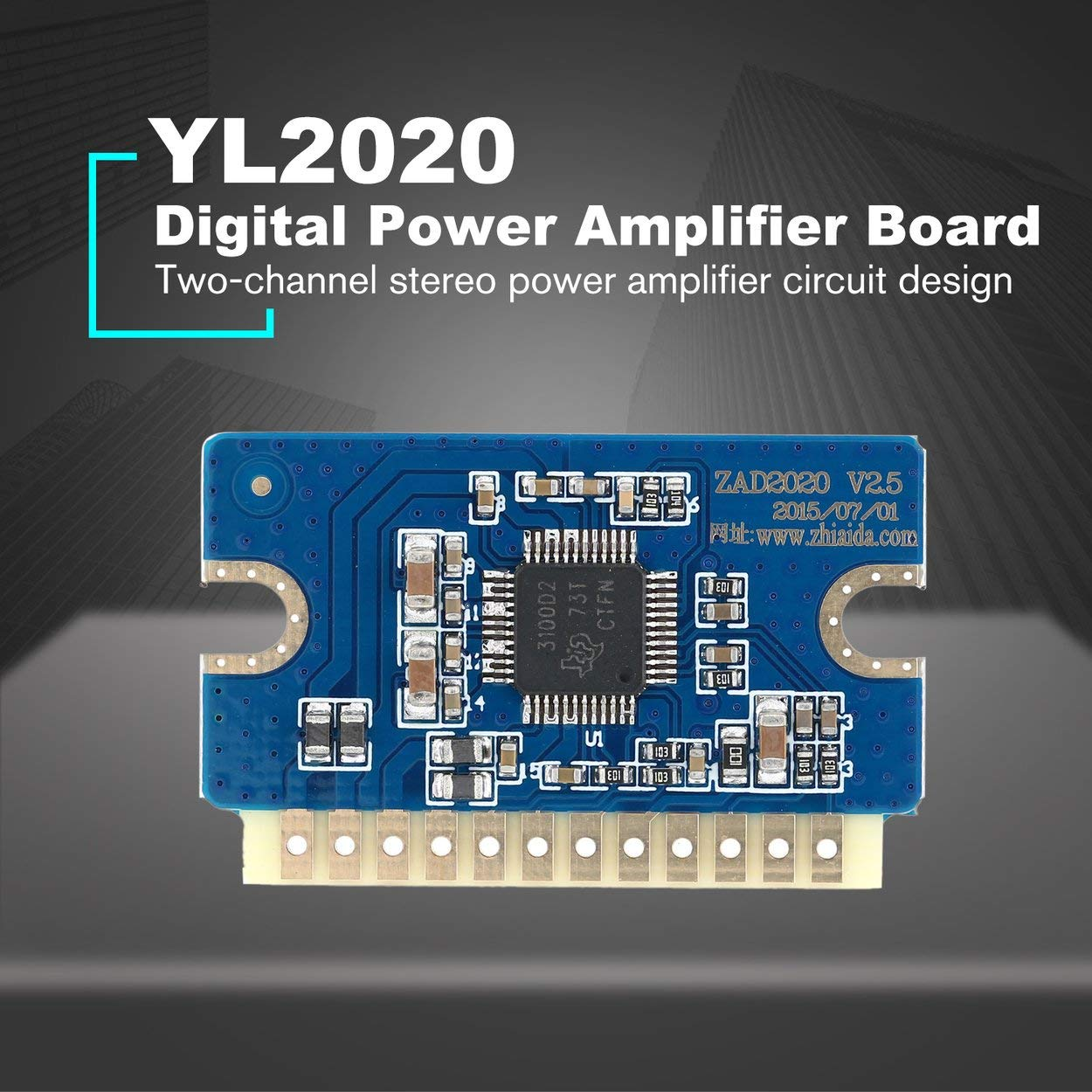 Lorenlli Fit YL2020 20W + 20W Mini Stereo Audio Verstärkerplatine Dual Channel AMP-Modul Leistungsverstärker-Modul Gute Soundeffekte