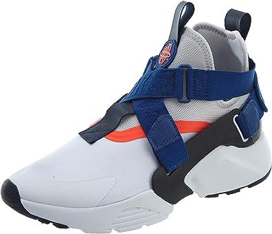 Nike AIR Huarache City Mens Shoes Size 8 White/Blue/Orange