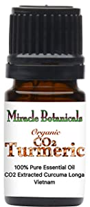 Miracle Botanicals Organic CO2 Extracted Turmeric Essential Oil - 100% Pure Curcuma Longa - Therapeutic Grade (5ml)