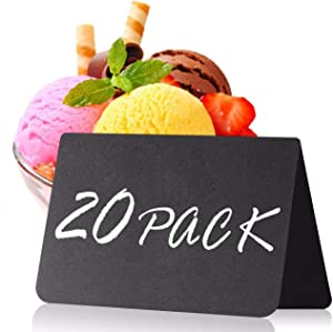 20 Pack Mini Chalkboard Tent Signs 4
