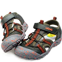 8f1de32d1dd99d UOVO Boys Sandals Hiking Athletic Closed-Toe Beach Sandals Kids Summer Shoes