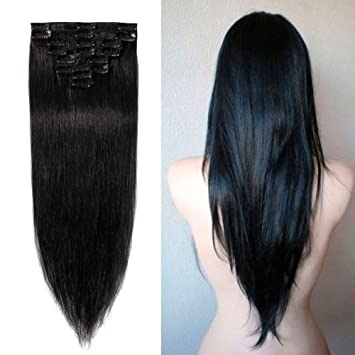 Amazon 100 real remy clip in hair extensions 16 22inch 100 real remy clip in hair extensions 16 22inch grade aaaaa natural hair full pmusecretfo Image collections