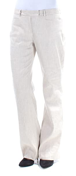 b5fd30882 Image Unavailable. Image not available for. Color: Tommy Hilfiger $89 Womens  New 1109 Beige Straight Leg Wear to Work Pants ...