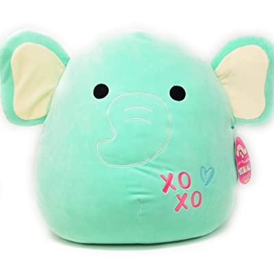Squishmallow Kellytoy 16 inches - Super Soft Big Plush Pillow Pet Toy (Diego / Aqua Elephant): Toys & Games