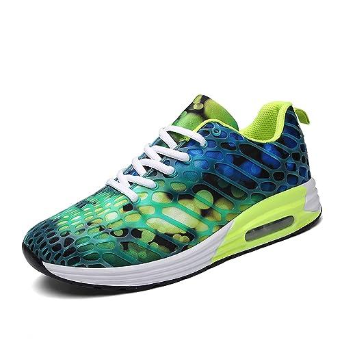 Sneakers Hombre Zapatos de Camuflaje Calzado Deportivo Casuales Zapatillas de Correr Zapatillas de Deporte Air Gym Azul 44: Amazon.es: Zapatos y ...
