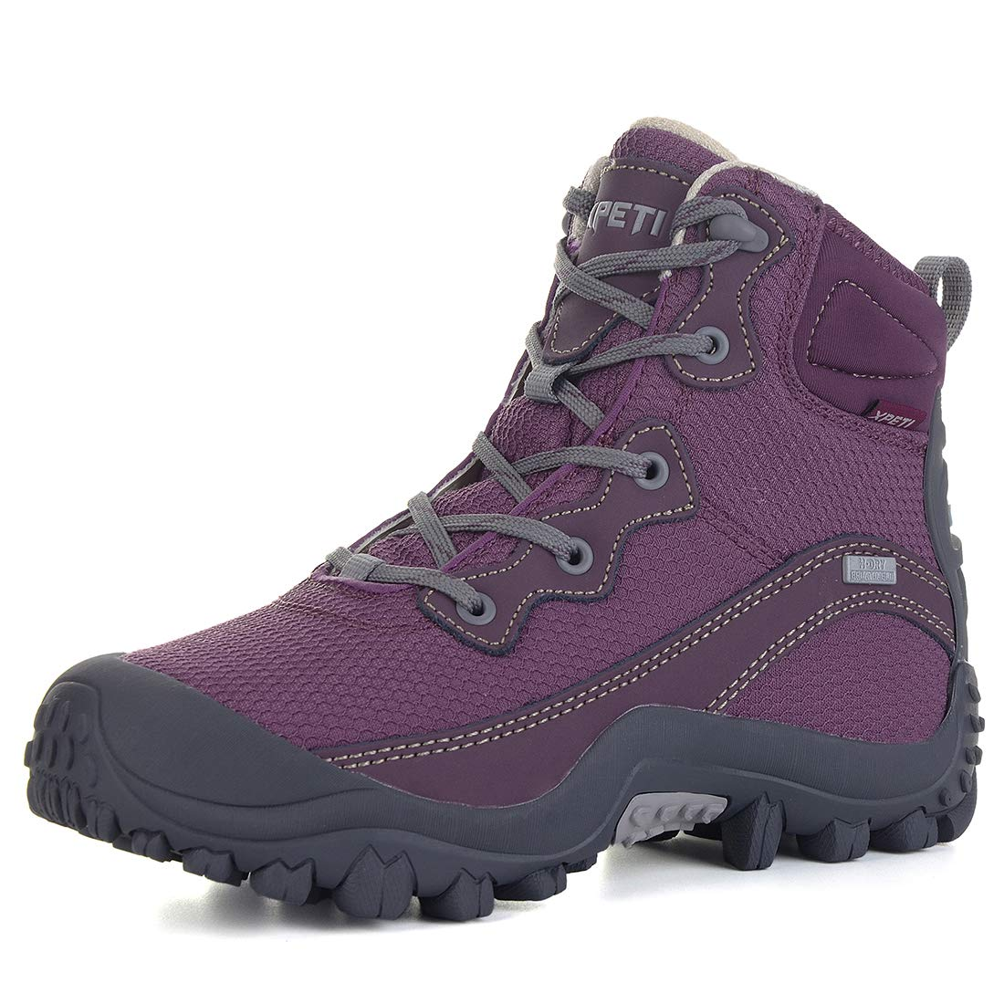 XPETI Women's Dimo Mid Waterproof Hiking Outdoor Boot (7 B(M) US, Purple) by XPETI