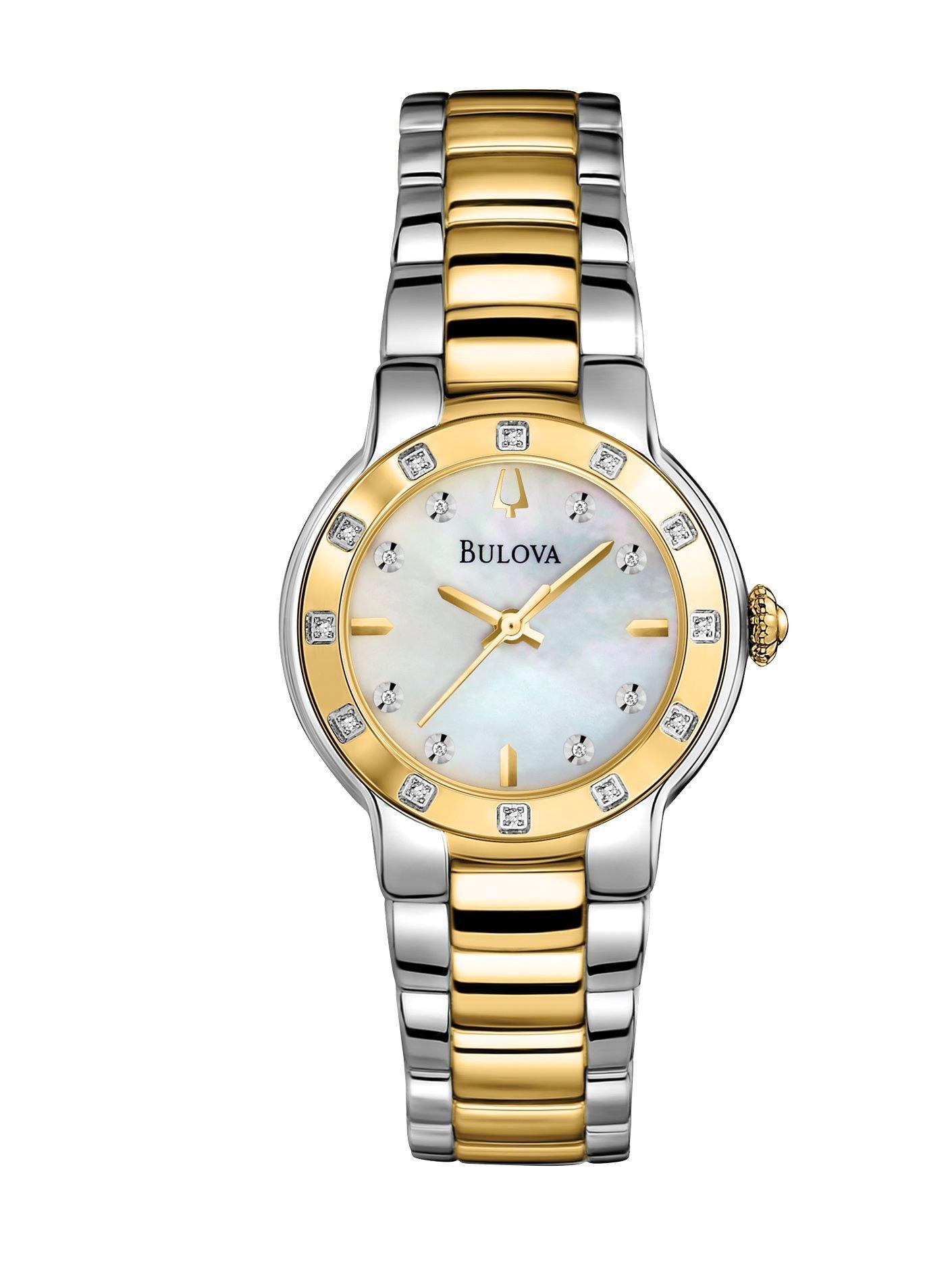 Bulova Women's 98R168XG Diamond Bezel and Markers Quartz Two Tone Watch (Certified Refurbished)