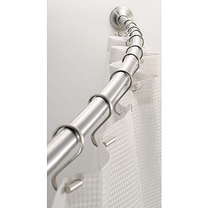 InterDesign Wall Mount Curved Bathroom Shower Curtain Rod Amazonca