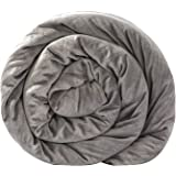 BlanQuil Quilted Weighted Blanket (Grey 15lb) W/ Removable Cover.