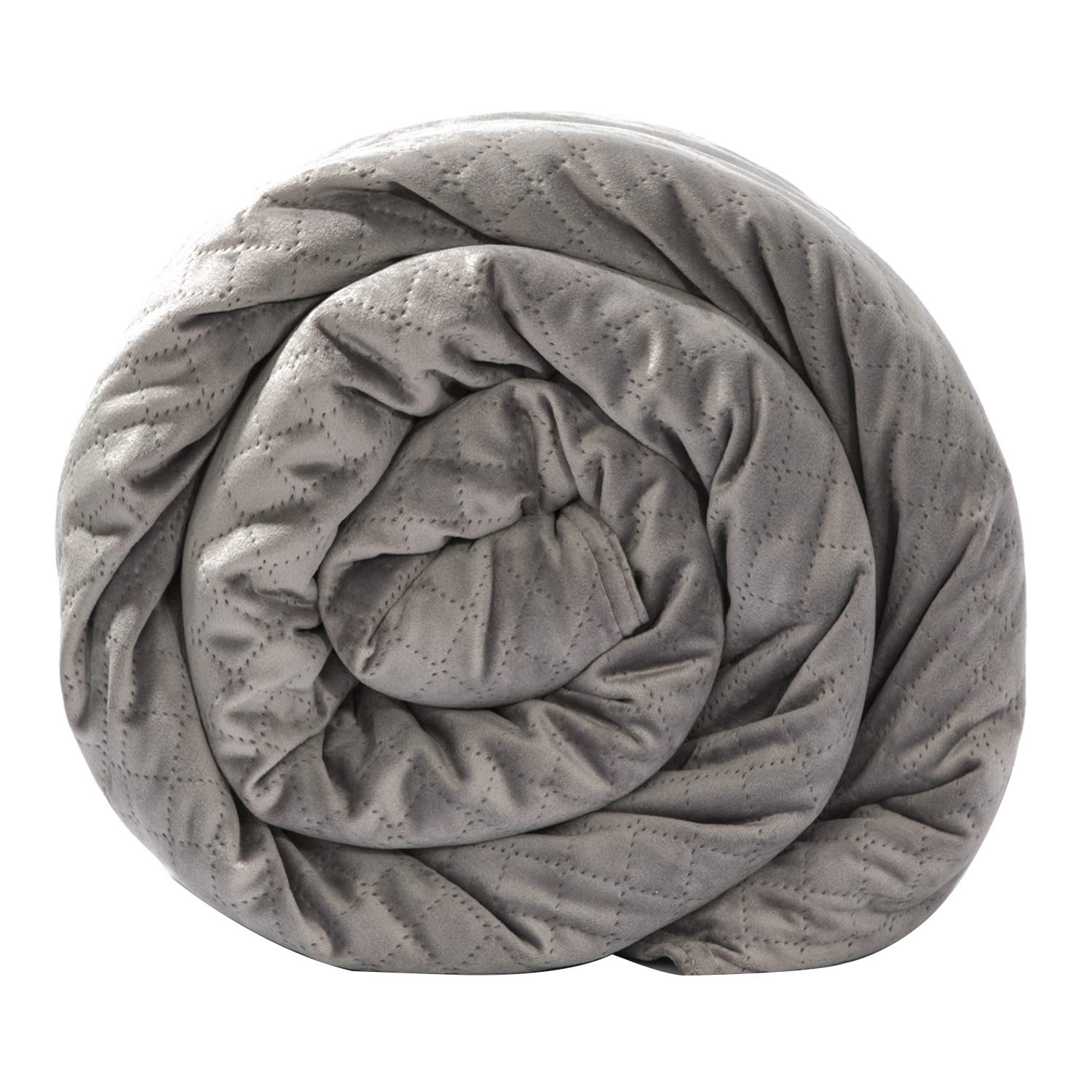 BlanQuil Quilted Weighted Blanket W/Removable Cover (Grey 20lb) by BlanQuil