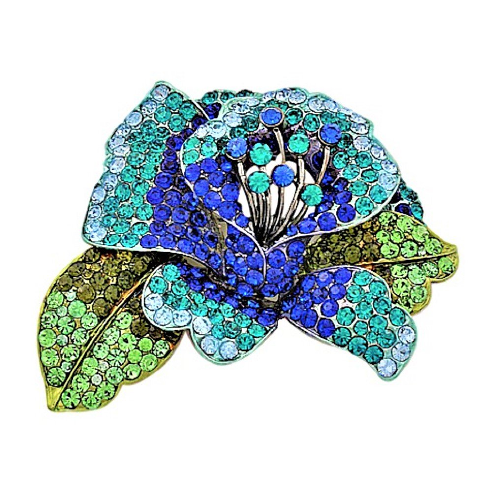 Something Blue Large Statement Brooch Pin Fashion Jewelry Boxed (#70)
