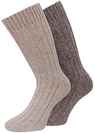 Calcetines con lana de alpaca, suaves y cálidos, 4 pares: Amazon.es: Ropa y accesorios