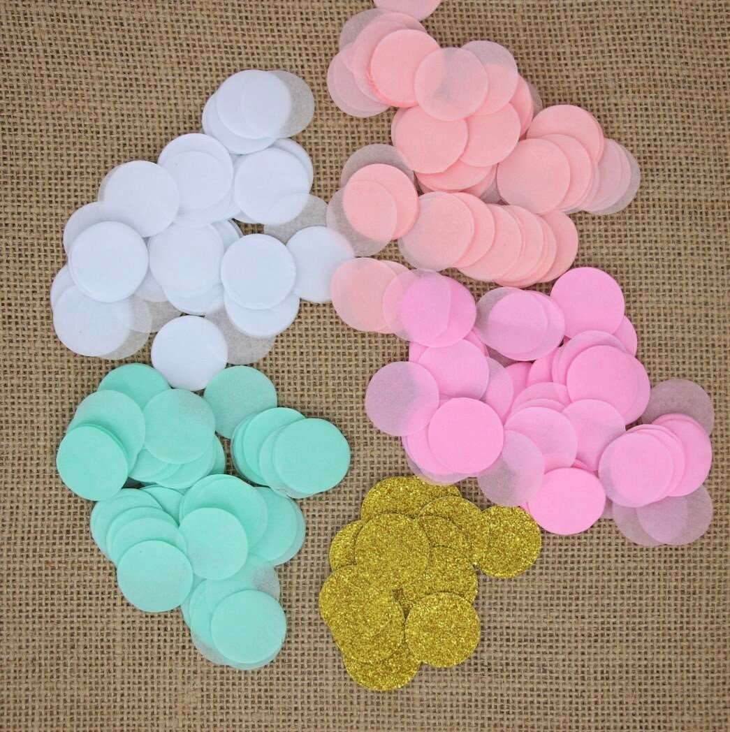 Amazon.com: Mybbshower Pink Mint Paper Wedding Confetti Engaement ...