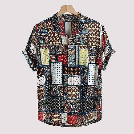 Sylar Camisas De Hombre Manga Corta Camisetas Hombre Originales con Estampado Vintage Camisa Hawaiana Hombre Verano Playa Funny Hawaii Shirt Camiseta Blusa Tops: Amazon.es: Ropa y accesorios