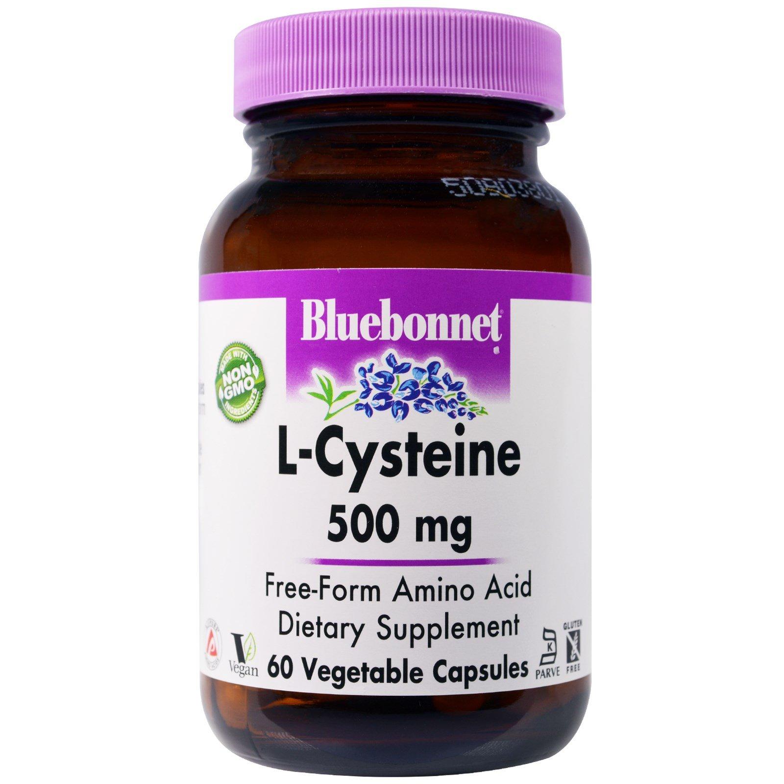 Bluebonnet Nutrition, L-Cysteine, 500 mg, 60 Veggie Caps - 2pc