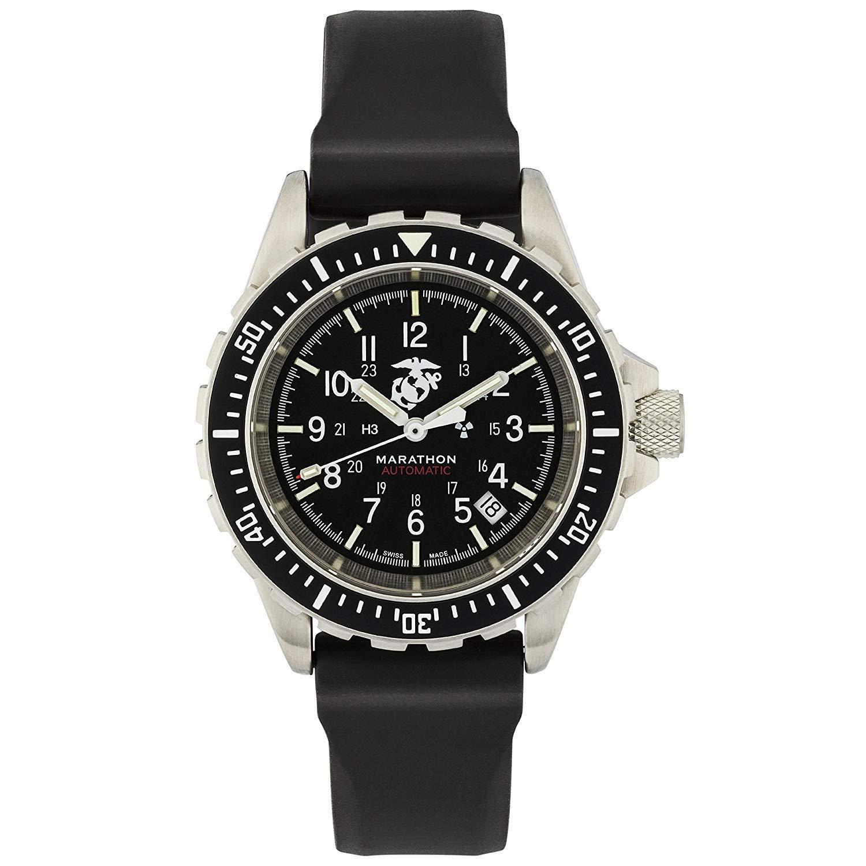 Amazon.com: Marathon Watch WW194006USMC GSAR Swiss Made Military Issue Divers Automatic Watch with Tritium (41 mm, USMC Markings): Marathon: Watches