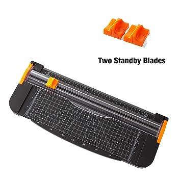 Orange 6 Pack Papierschneider Ersatzmesser Mit Automatischem Sicherheitsschutz F/ür A4-Papierschneider