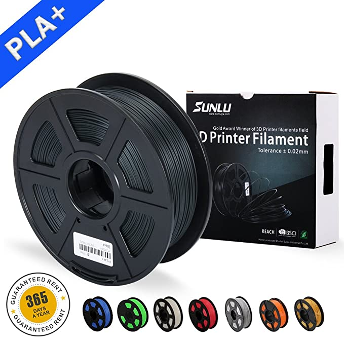 67 opinioni per SUNLU 3D Printer Filament PLA Plus Black(more like grey),PLA Plus Filament 1.75
