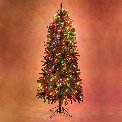 slender douglas fir prelit christmas tree artificial christmas tree 1350 clear lights 12