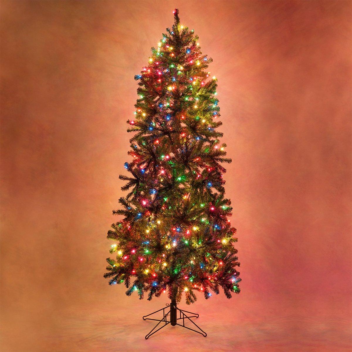 Slender Douglas Fir Prelit Christmas Tree Artificial Christmas Tree (400 Multicolor Lights, 6.5')