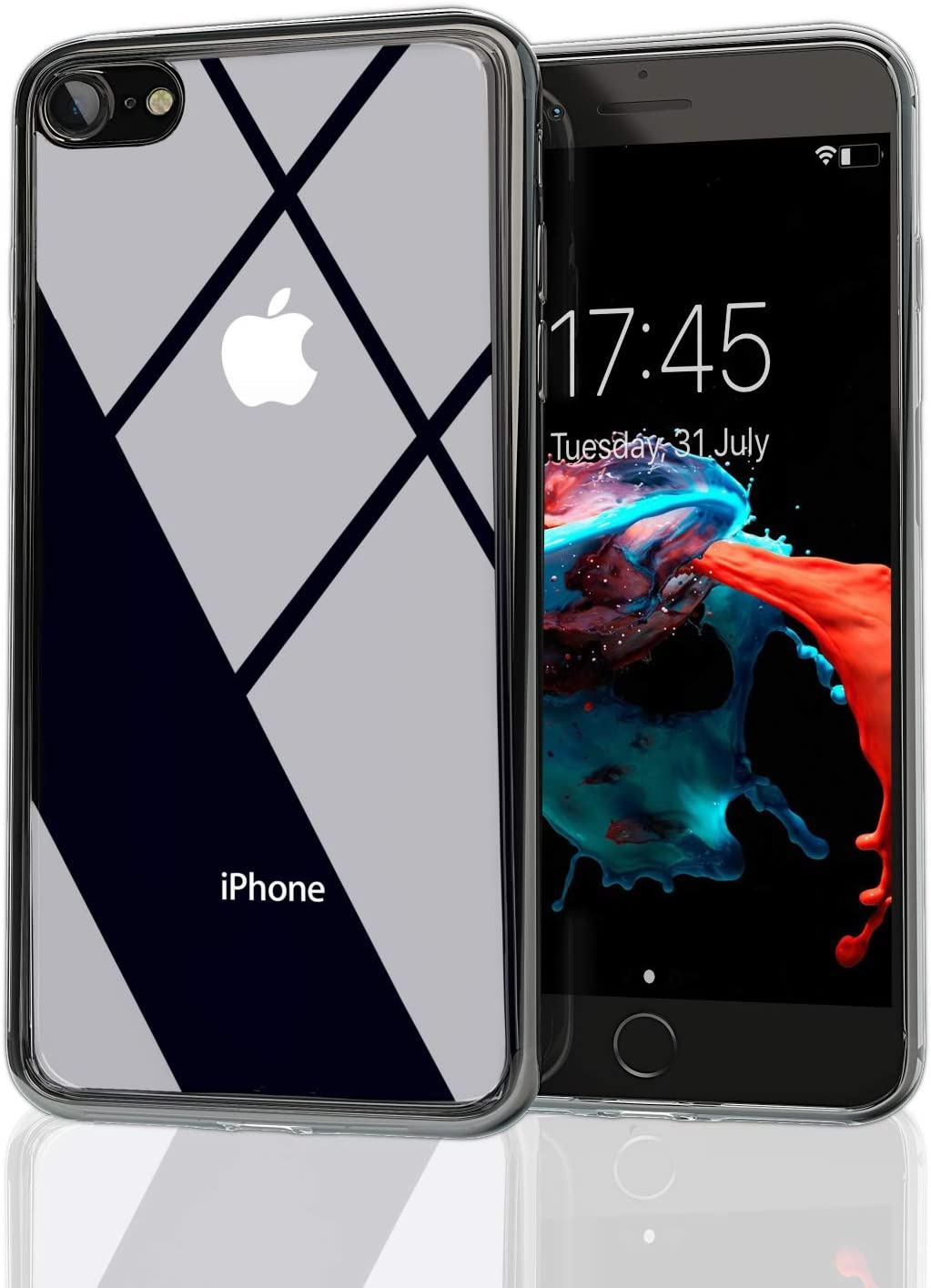 Nicexx iPhone 7 Case | iPhone 8 Case | iPhone SE 2020 | Transparent Clear Case | Soft TPU Bumper Drop Protection | Wireless Charging | Compatible with iPhone 7/8 / SE 2020