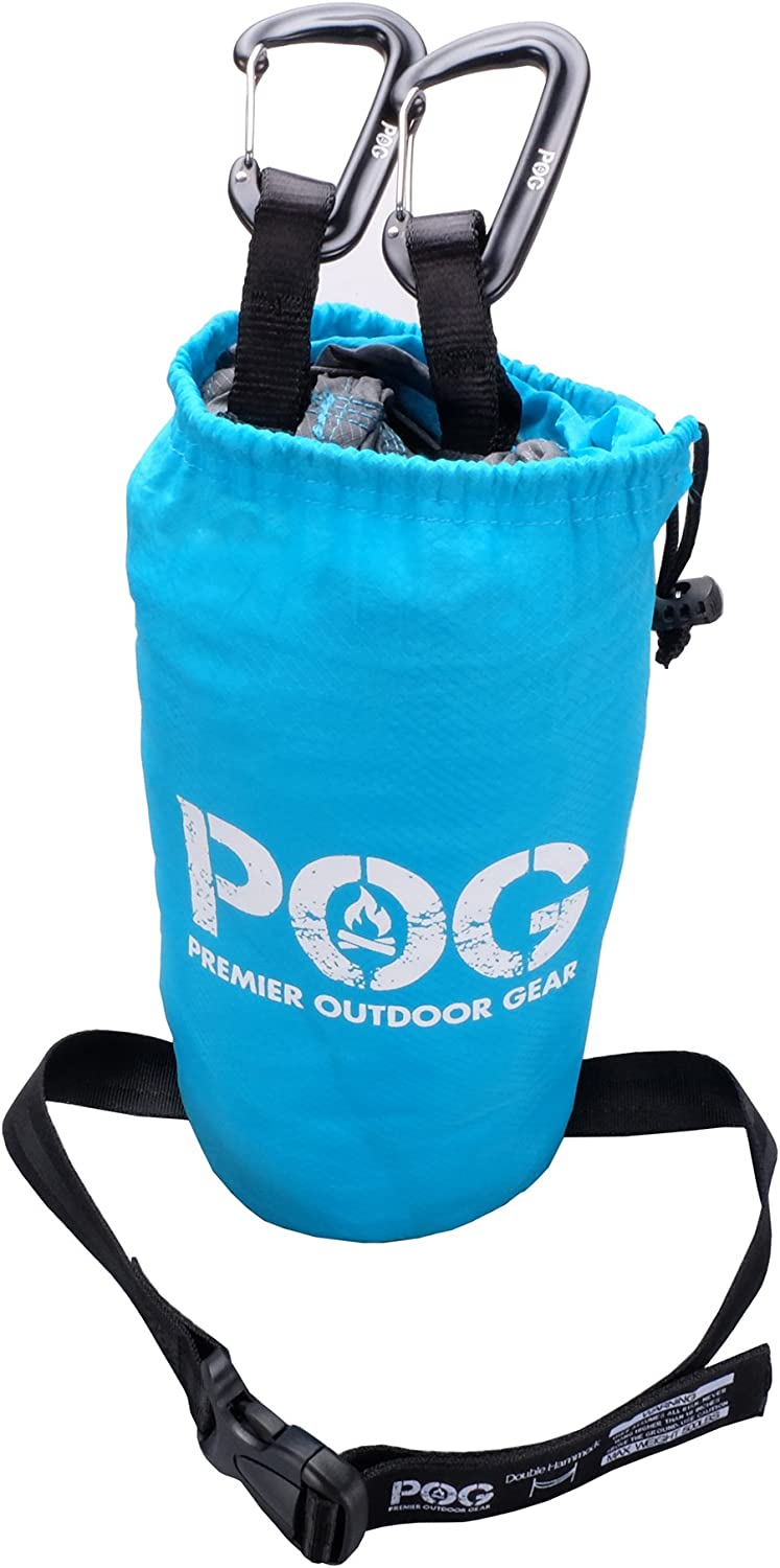 POG Best Double Camping Hammock with 9ft Tree Strap Lightweight Parachute Ripstop Nylon for Camping Travel /& Outdoors. Beaches Backpacking
