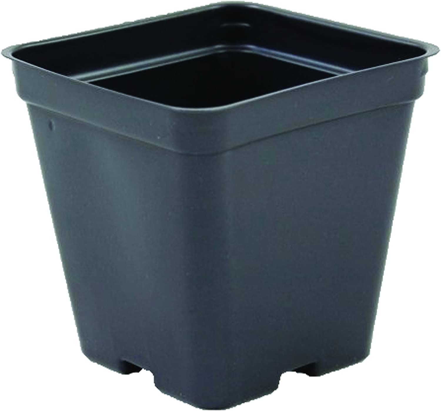 Square Greenhouse Pots 3.5 inch x 3.5 inch- Black – Plastic – Deep – Case of 450 by Growers Solution