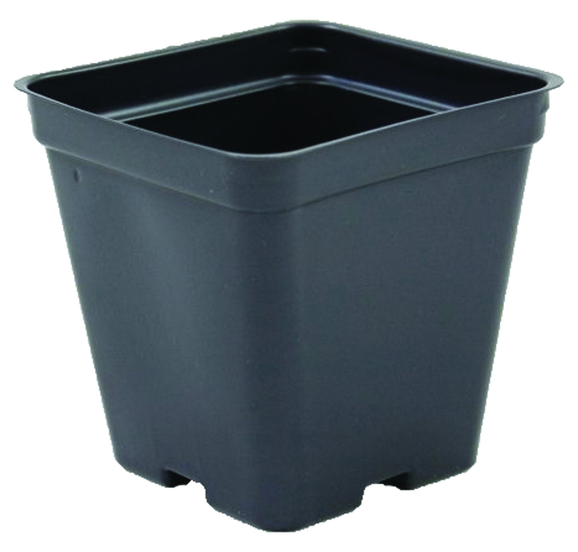 Square Greenhouse Pots 3.5 inch x 3.5 inch- Black - Plastic - Deep - Case of 450 by Growers Solution