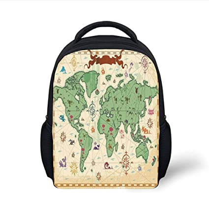 a940e5c521 Amazon.com  iPrint Kids School Backpack Wanderlust Decor