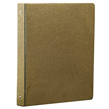 "Amazon JAM Paper Fashion 3 Ring Binder 1"" Gold Glitter"