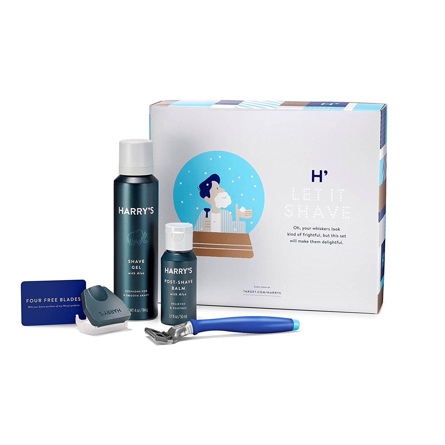 Harry's Grooming Gift Set - 5 Piece Winter Blue