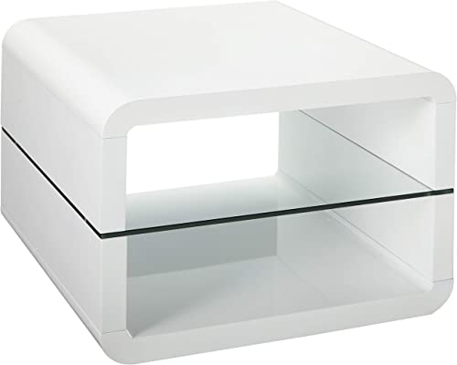 Coaster Home Furnishings 2-Shelf End Table Glossy White