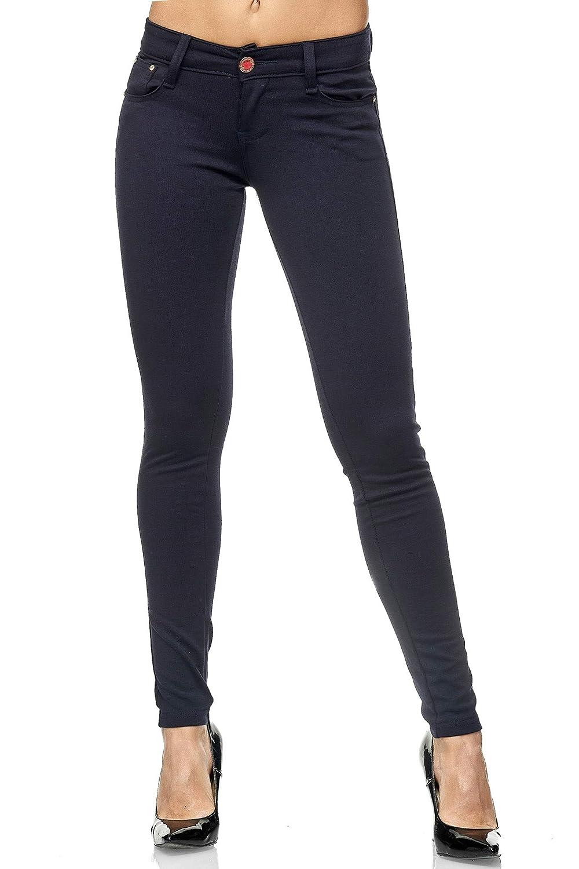 Chunkyrayan Jeggings Elara Pantalon Stretch Femme Coupe Skinny